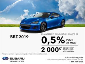 Procurez-vous la Subaru BRZ 2019!
