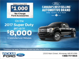 Save on the 2017 Ford Super Duty!