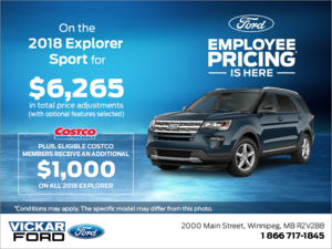 Save on the 2018 Ford Explorer!