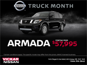 Get a brand new Nissan Armada Today!