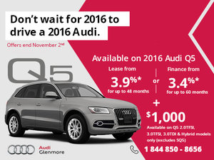 Get the brand-new 2016 Audi Q5 today!