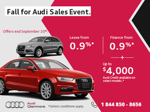 Save Big During the Audi's Monthly Sales Event