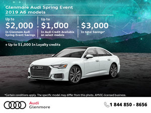 Get the 2019 Audi A6 today!