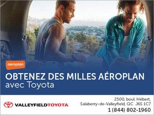 Obtenez des milles Aéroplan avec Valleyfield Toyota