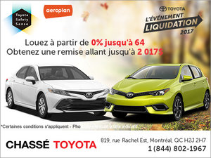 L'événement liquidation 2017 de Toyota