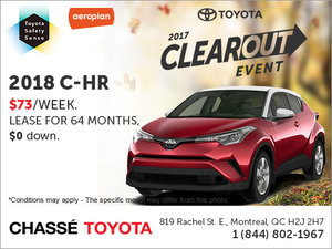 Save on the 2018 C-HR
