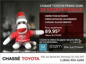 Chassé Toyota prend soin de votre véhicule…