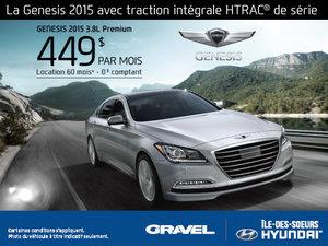 La Hyundai Genesis 2015 en location