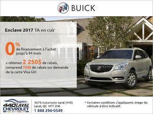 Le Buick Enclave 2017 en rabais!