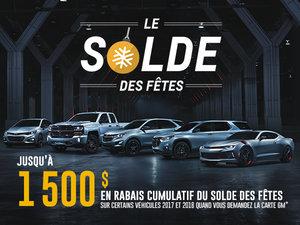 Programme Chevrolet, décembre 2017