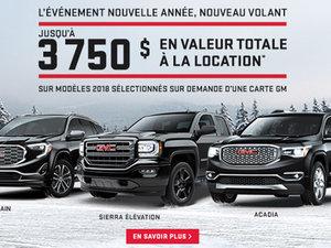 Promotion GMC janvier 2018