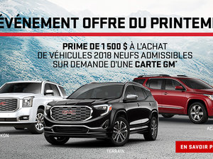 Promotion GMC Mars 2018