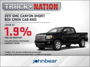 Save Big on the 2017 GMC Canyon