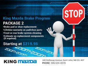 King Mazda's Brake Program!