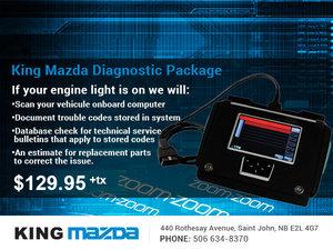 King Mazda's Diagnostic Package!