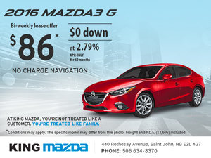 Drive Home the 2016 Mazda3 G Today!