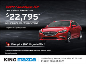 Save on the Brand-New 2017 Mazda6 GX Today!