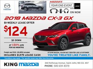Drive Home an All-New 2018 Mazda CX-3 GX