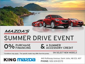 King Mazda's Monthly Sales Event!