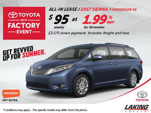 Save Big on the All-New 2017 Toyota Sienna