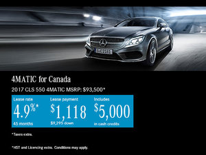 Lease the 2017 Mercedes-Benz CLS 550 4MATIC Today!