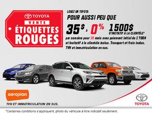 Vente étiquettes rouges chez Toyota