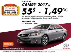 Obtenez La Toyota Camry 2017 aujourd'hui!