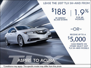 Save on the All-New 2017 Acura TLX Today!