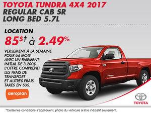 Obtenez la Toyota Tundra 4X4 SR 2016!