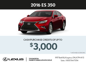 Buy the Brand-New 2016 ES 350 Today!