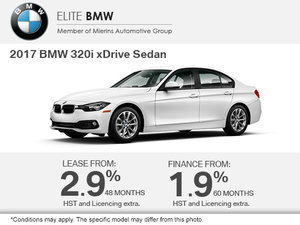 Get the 2017 BMW 320i xDrive Today!
