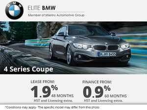 Get the 2015 BMW 4 Series Coupe Today!