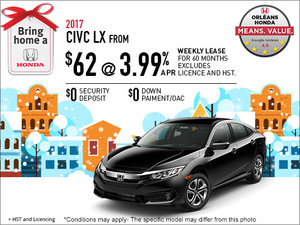 Save on the All-New 2017 Honda Civic LX Today!
