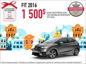 Économisez sur la Honda Fit 2016 dès aujourd'hui!
