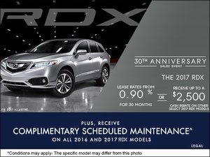 Drive Home the All-New 2017 Acura RDX Today!