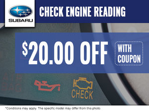 Save $20.00 off your Next Engine Check