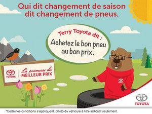 Promesse de prix pour nos pneus Toyota