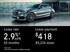 Lease the 2017 Mercedes-Benz C-Class 300 4MATIC Sedan
