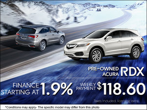 Get a Pre-Owned RDX from $118.60 per Week!
