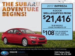 Get the 2017 Subaru Impreza