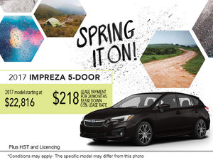 2017 Impreza 5-door