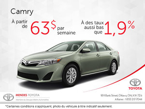 Toyota Camry à partire de 63$/semaine
