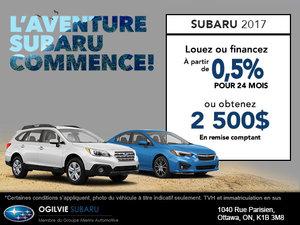 L'aventure Subaru commence!