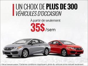 Plus de 300 véhicules d'occasion