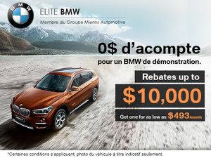 BMW Démo avec 0$ d'acompte!