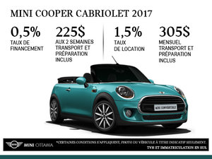 La MINI Cooper Cabriolet 2017