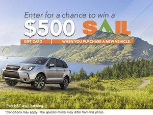 Win a $500 Sail Gift Card!