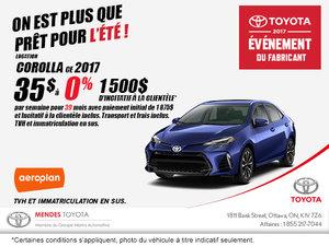 Obtenez la nouvelle Toyota Corolla 2017!