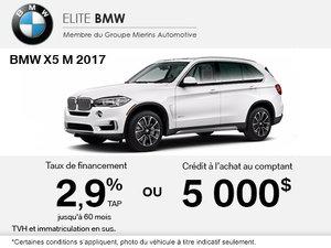 Obtenez le BMW X5 M 2017 aujourd'hui!