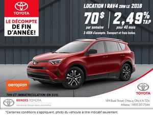 Obtenez la Toyota RAV4 2018!